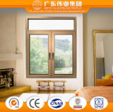 Aluminio doble acristalamiento de Casement Window