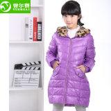De quatro cores do inverno revestimento Corpo-Shaped para baixo para a menina