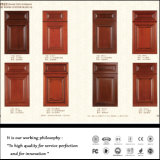 Porta de gabinete branca da cozinha do vácuo do PVC (FY056)