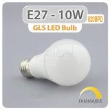 도매 플라스틱 입히는 알루미늄 E27 9W LED 전구