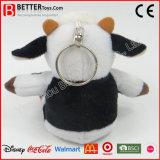 Da vaca macia do animal enchido do brinquedo de Keychain do luxuoso En71 anéis chaves para miúdos/crianças