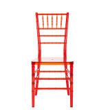 빨간 옥외 플라스틱 겹쳐 쌓이는 Chiavari 다방 의자