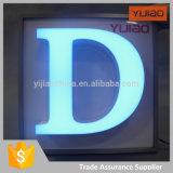 Diseño luminoso delantero del alfabeto del restaurante