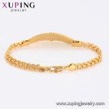 Un braccialetto delle 75466 di Xuping di modo donne dei monili, braccialetto elegante, braccialetto placcato colore dell'oro 24K