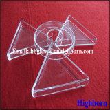 Het Duidelijke Driehoekige Vat van uitstekende kwaliteit van het Glas van het Kwarts van het Kiezelzuur