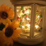 Luces estrelladas micro de la cadena del LED, luces de hadas impermeables del alambre de cobre, luces de luna con pilas (incluido), para la boda de DIY, partido, decoraciones del vector, W caliente