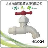61024 de sanitaire Witte Kleur Plastic Bibcock van Waren met T-hendel