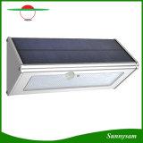 Indicatore luminoso solare della parete del sensore di movimento del triangolo della lega di alluminio 46 LED