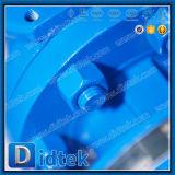 Robinet à tournant sphérique de flottement de Wcb d'acier de moulage de l'essai Pn100 DIN de Didtek 100%