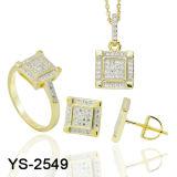 Ensemble de bijoux en forme de nouvelle conception 925 en argent avec prix d'usine