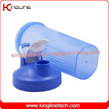 20oz/600ml plastic eiwitschudbekerfles met schudbekerbal en handvat (kl-7010D)