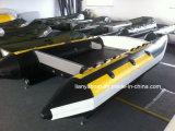 Liya 3.35-4.3m de alta velocidad catamarán hinchable botes botes inflables