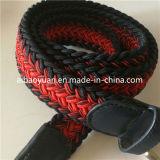 Courroie élastique tressée de textile de couleur de mélange