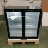 Doppelter Glastür-Rückseiten-Stab-Kühler-Handelsabkühlung-Bier-Kühler