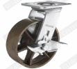 Roda resistente do rodízio do ferro com freio lateral (G4501)