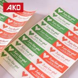 Semi collant d'étiquette de papier de lustre pour le module approprié Ap3001 de nourriture