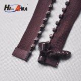 熱い製品はニンポーの金属のラインストーンのジッパーをカスタム設計する