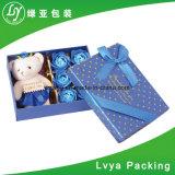 Индивидуального дизайна моды букет упаковка картон бумага подарочная упаковка с лентой