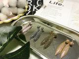실제적인 화이트 골드 도금한 E 코팅 구리 검정 지르콘 돌 귀는 귀걸이를 장식용 목을 박는다