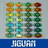 Adhésif de haute qualité brillant hologramme Autocollant de sécurité d'estampage à chaud