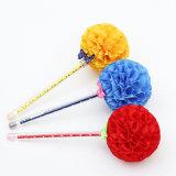 Crayon lecteur de globe de fleur de pointe d'usine avec le Bowknot