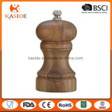 Moulin de poivre manuel en bois de sel d'acacia de petite taille
