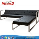 Прочный Hotsale диван в Саду из нержавеющей стали для отдыхающих диван-кровать, диван гостиницы