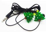 Em-Orelha Earbuds do modelo da árvore de Natal, o melhor fone de ouvido do presente do Natal com Mic