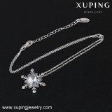 Forma de copos de nieve Xuping-00415 Collar de cristales de Swarovski Collar de cadena de oro simple
