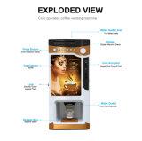Funciona con monedas café de buena calidad máquina expendedora de café (F-303V).