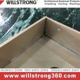facciate arieggiate contrassegno architettonico composito di alluminio del soffitto del baldacchino dei comitati delle facciate del rivestimento della parete del comitato di 4mm
