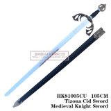 Espadas medievais da decoração das espadas de Swods da película 105cm HK81005cu