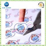 Wasserdichter transparenter Plastikpapierselbstklebender Kennsatz-Drucken-Epoxidaufkleber (jp-s187)