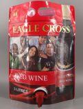 Tribune Zak van de Rode Wijn van omhoog 3 Liter de Plastic met Kraan Vitop