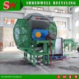(Pneu réutilisant la machine) double défibreur automatique de pneu de rebut de l'arbre 15t/H