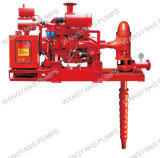 Gruppo diesel della pompa ad acqua dell'asta cilindrica del fuoco verticale lungo della turbina