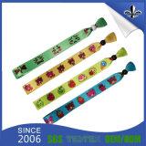 Bracelet tissé par tissu estampé par coutume en gros pour l'usager