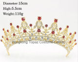 최신 판매 금 결혼식 머리 머리 보석 결혼식 크라운 모조 다이아몬드 신부 크라운 (EC16)를 위한 수정같은 Tiara 크라운