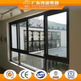 Dos guías de doble vidrio templado de ventana deslizante