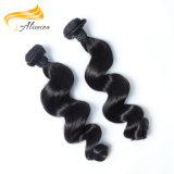 Extensão malaia do cabelo do Virgin não processado humano do cabelo de Alimina