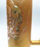 Tubo de agua de cristal del color del tabaco del reciclador de las plataformas petroleras del LENGUADO del reciclador de Pyrex del Borosilicate que fuma del arte de cristal alto del tazón de fuente