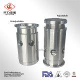 Санитарный клапан суфлера SS304/SS316L регулируемый
