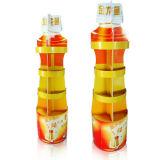 Flasche-Geformte Pappfußboden-Bildschirmanzeige für Speiseöl, Supermarkt-Fußboden-Bildschirmanzeige