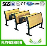 Tabela de madeira forte da mobília de escola com cadeira de dobradura (SF-03H)