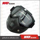 Черный шлем мотоцикла на лошадях очки со съемными маску на открытые поверхности