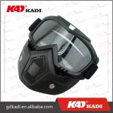 Gafas de equitación casco abierto extraíble con máscara facial