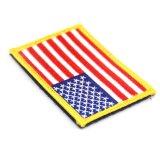Appuyez sur la coutume de la chaleur de l'insigne cheap stock USA drapeau patch broderie