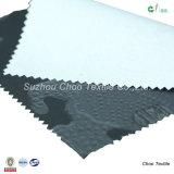 Pongis Lleno-Opaca 100% del telar jacquar del poliester con la capa de la PU para la tela de la chaqueta