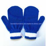 OEM van de Fabriek van China Geplaatste Handschoenen van de Sjaal Beanie van het Borduurwerk van het Af:drukken van het Beeldverhaal van de Douane van de Opbrengst de Blauwe Jonge geitjes Gebreide