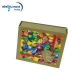 Rectángulo de papel de empaquetado impreso insignia colorida modificado para requisitos particulares del regalo del caramelo de la Navidad (QYZ030)